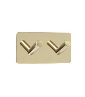 Dvojitý samolepiaci vešiak z leštenej mosadznej nehrdzavejúcej ocele